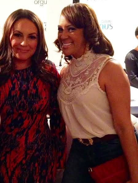 With Angie Martinez at the 2014 Orgullosa event in New York City.